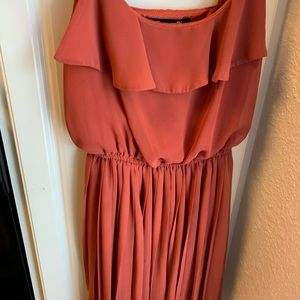Forever 21 Rust Red Ruffled Dress - Small